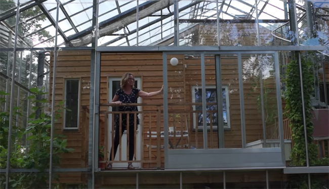 Swedish Family Surrounds Home With Greenhouse