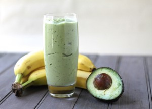 avocados smoothy with banana