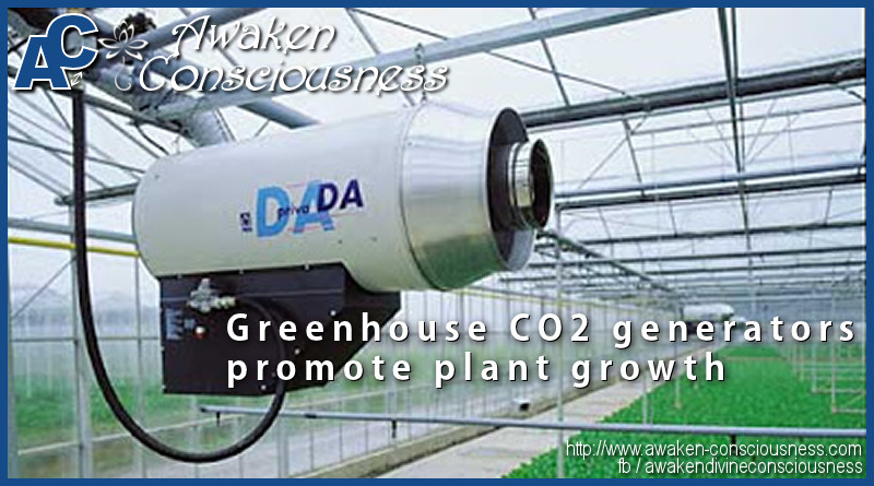 CO2 generators promote plant growth